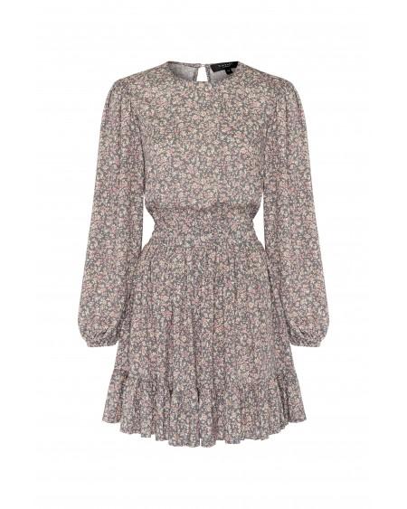 Платье с цветочным темным принтом